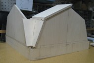 Green Gable scale model in process
