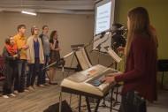 Hesston College campus worship photo
