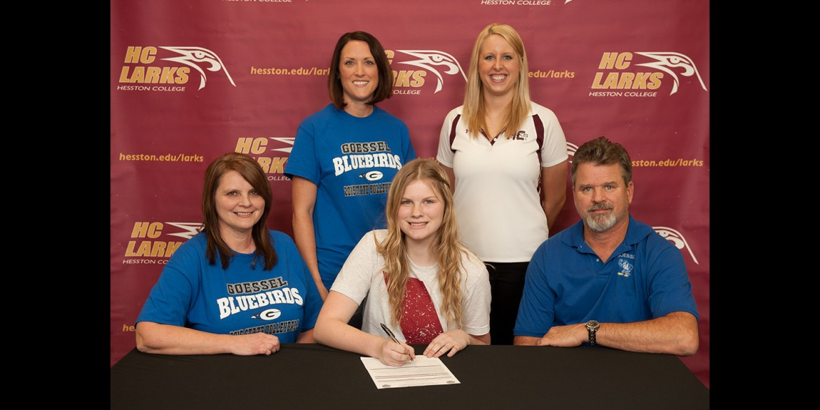 Alicen Meysing signs a letter of intent to play volleyball for Hesston College.