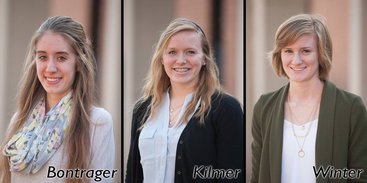 Savannah Bontrager, Kate Kilmer, Sadie Winter