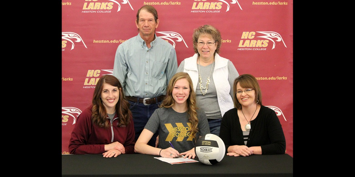 Haley Unruh signs to play volleyball for Hesston College.