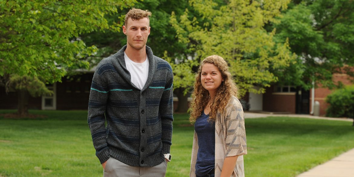 2016 Hesston College athletes of the year Jake Hansen and Christy Swartzendruber