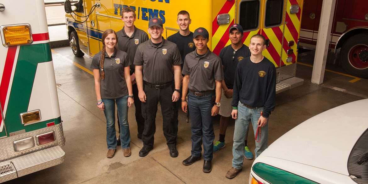 Hesston College students work for Hesston Emergency Services