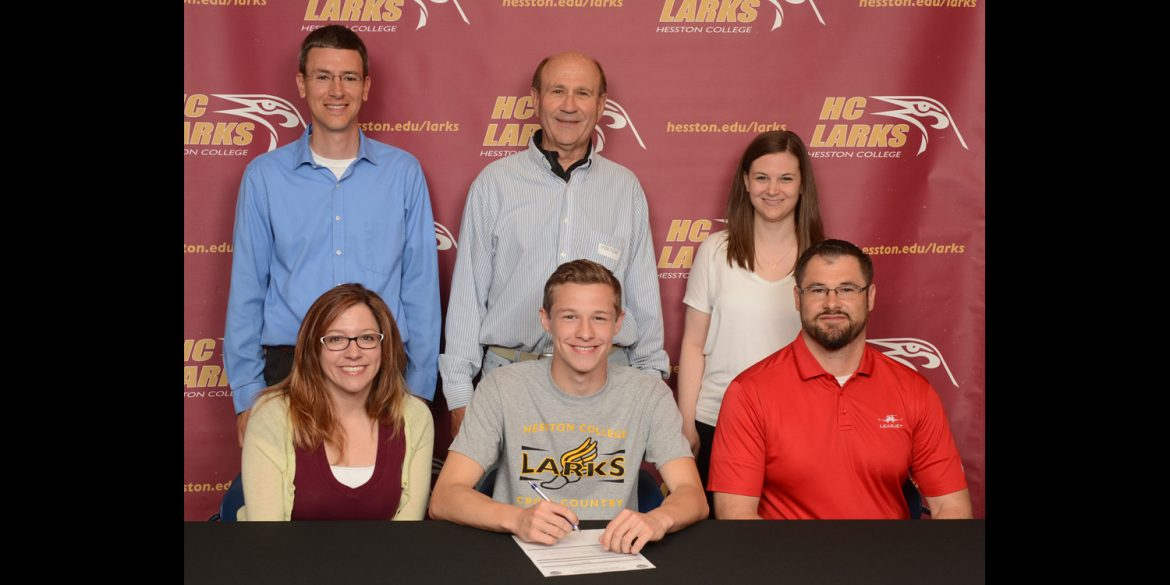 Luccas Schmucker signs to run cross country for Hesston College.