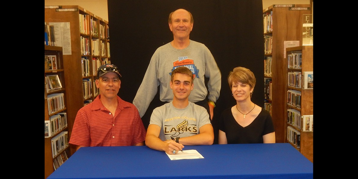 Avery Pike signs to run cross country for Hesston College.