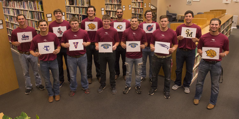 2016 Hesston College sophomore baseball players