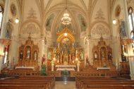 Interior of St. Mary's Catholic Church, St. Benedict, Kan. Photo by Elmer Ronnebaum.