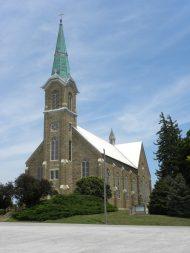 St. Mary's Catholic Church, St. Benedict, Kan. Photo by Elmer Ronnebaum.
