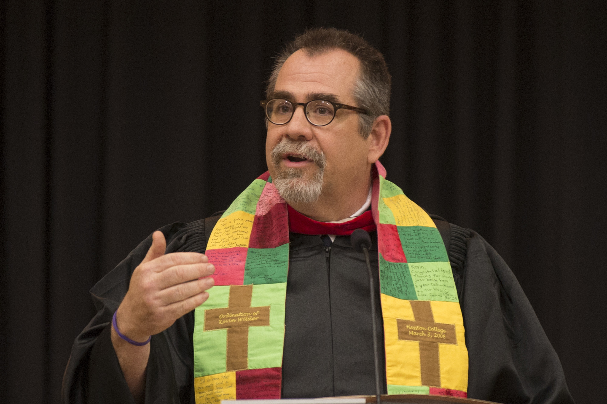 """Psychology and Bible instructor Kevin Wilder presented the message """"Ultimate Questions."""""""