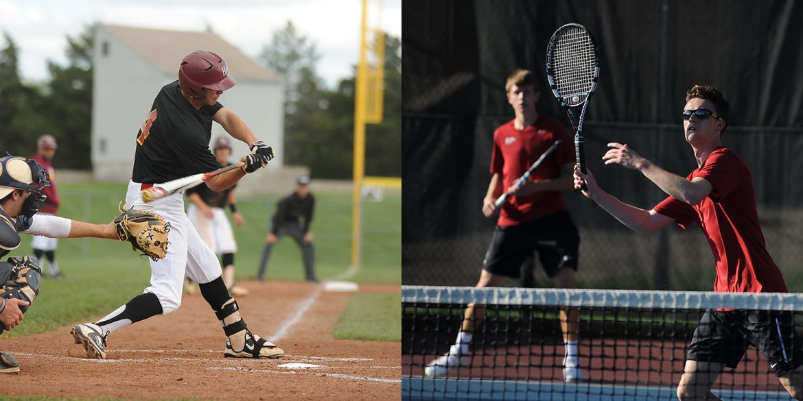 Spring 2016 Hesston College baseball and men's tennis action photos