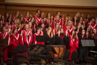 Hesston High School's women's chorus performs at the Gala Concert at Homecoming 2016