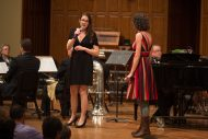 Erin and Tara Hershberger perform at the Gala Concert at Homecoming 2016