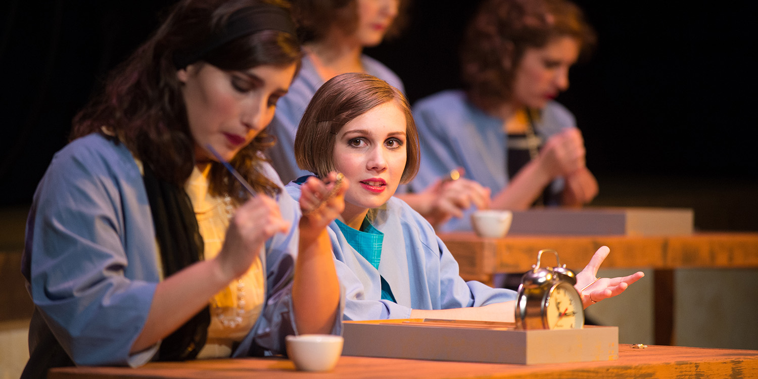 photo from the Hesston College production of These Shining Lives