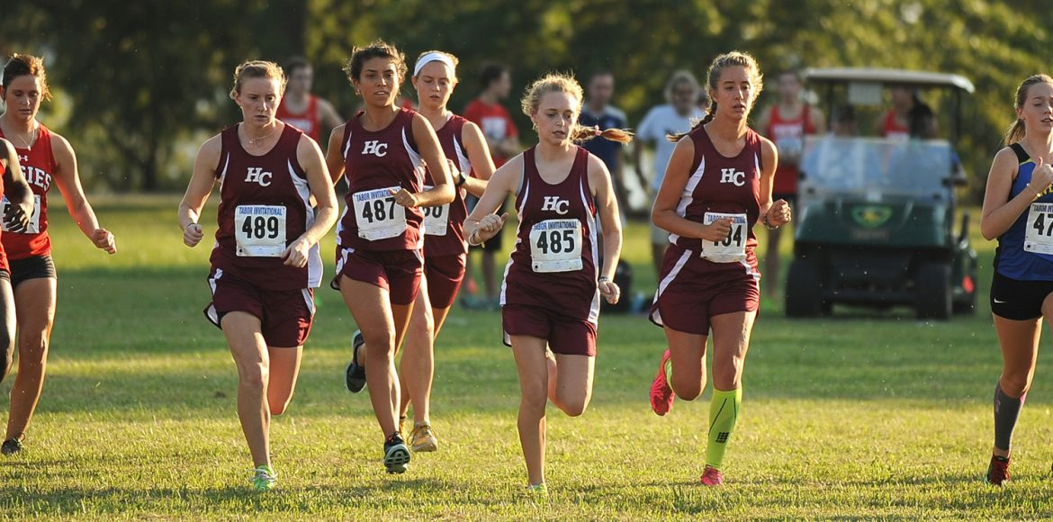 women's cross country action photo