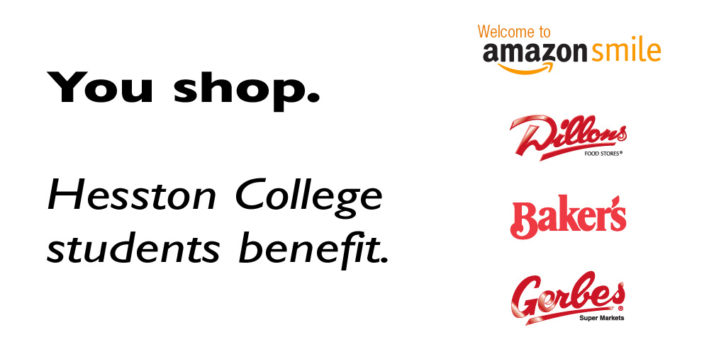 You shop. Hesston College students benefit. Amazon. Dillons. Baker's. Gerbes.