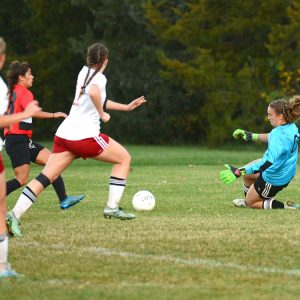 women's soccer action photo
