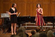 Dual alumnae sisters Erin Hershberger '10 and Tara Hershberger '06 perform at the gala concert.