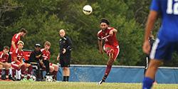 men's soccer action photo
