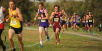 mens-cross-country-track stock image