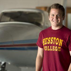 Jordan Stoltzfus, Hesston College sophomore aviation student