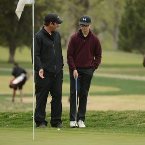 Hesston College golf action photo