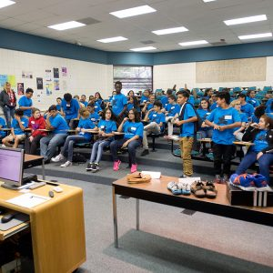 Horace Mann Middle School visits Hesston College