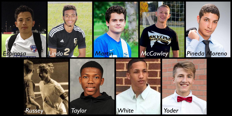 composite photo of Hesston College men's soccer signees