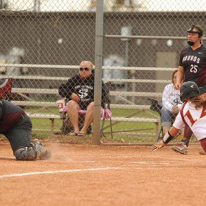 Hesston College softball action photo