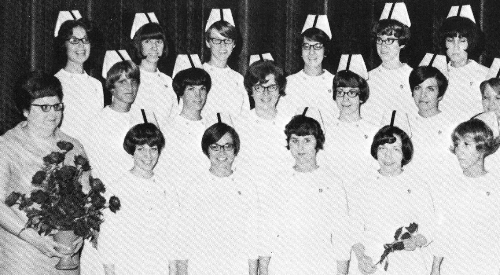 Hesston College's first graduating class of nurses