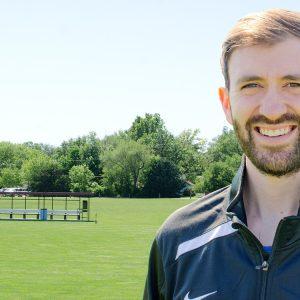 Hesston College men's soccer assistant coach Jeff Giroux