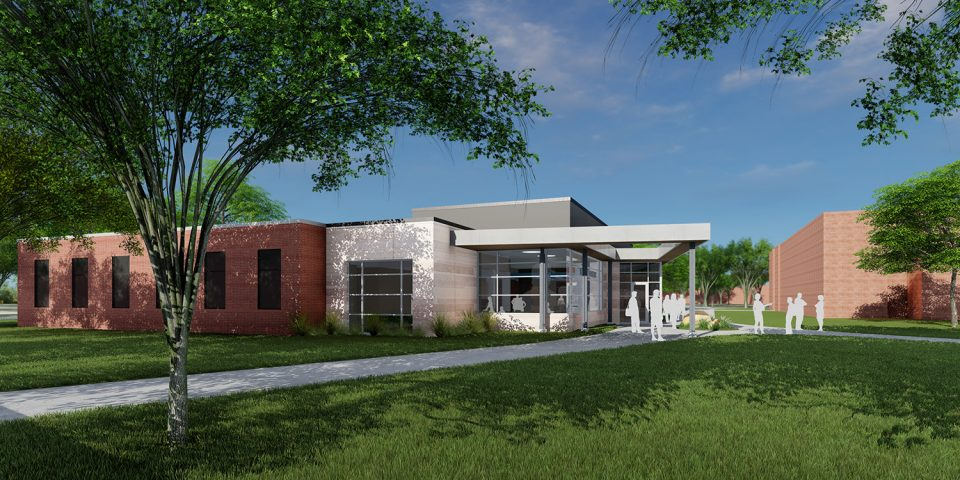 architect's rendering of Bonnie Sowers Nursing Education Center