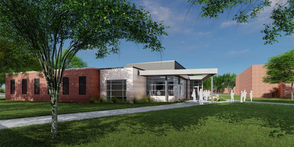 architect's rendering of Bonnie Sowers Nursing Education Center