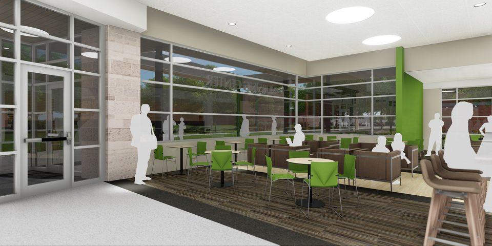 architect's rendering of Bonnie Sowers Nursing Education Center interior