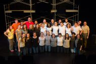 cast and crew photo from Hesston College production of Working