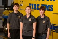 Three students have been volunteering with Hesston Fire/EMS during their time at Hesston.