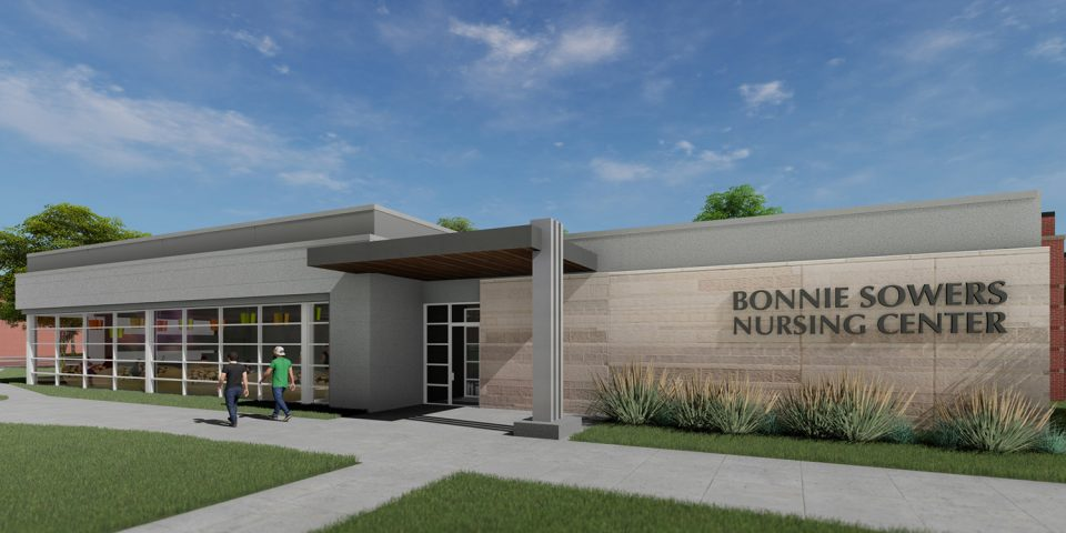 Architect's rendering of Bonnie Sowers Nursing Center
