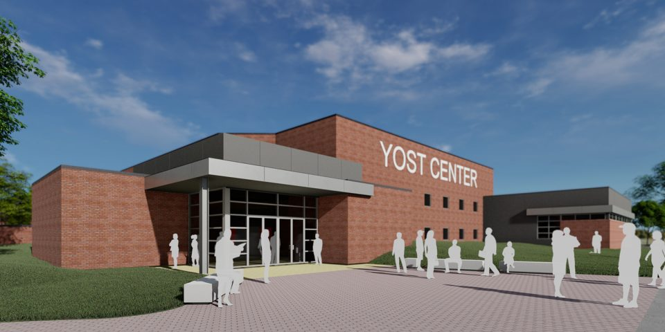 architect's rendering of Yost Center updates