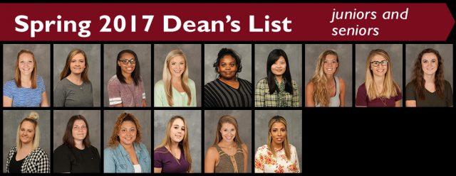 2017 spring dean's list - juniors and seniors