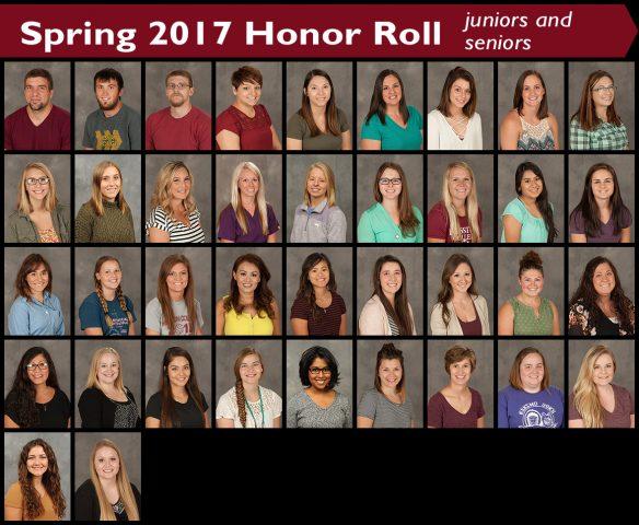 2017 spring honor roll - juniors and seniors