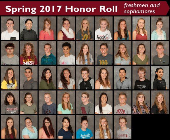 2017 spring honor roll - freshmen