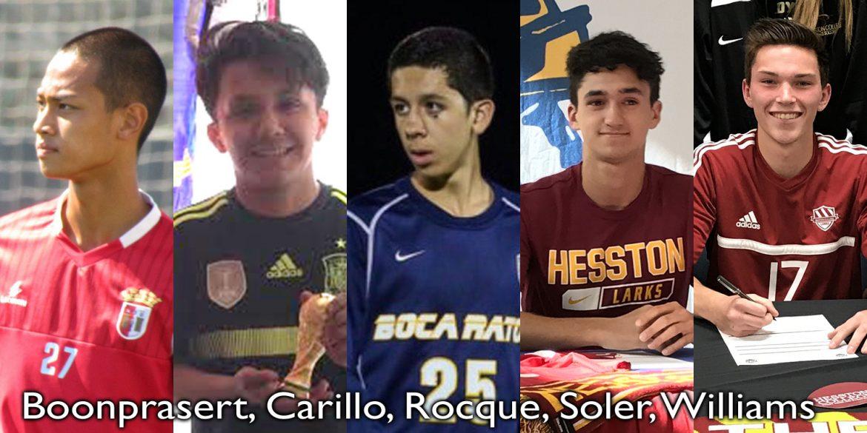 Recent Hesston College men's soccer signees