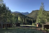 A view from the team's cabins at Rocky Mountain Mennonite Camp