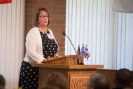 Faith Hershberger Penner speaks at the Partner and Inauguration Luncheon