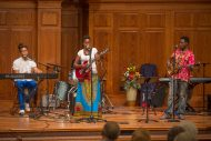 Waswahili Band performs at Saturday's International Music Concert.