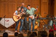 Regier Family Bluegrass Band performs at Saturday's International Music Concert.