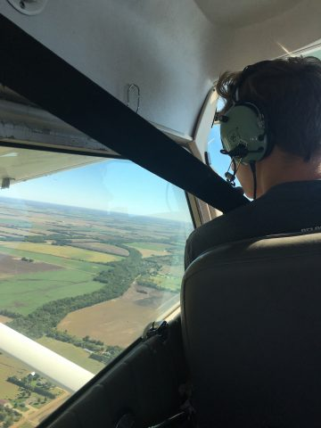 Get a flight from an aviation student. Check.