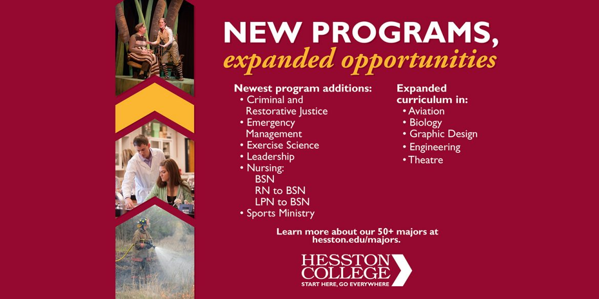 New programs, expanded opportunities at Hesston College