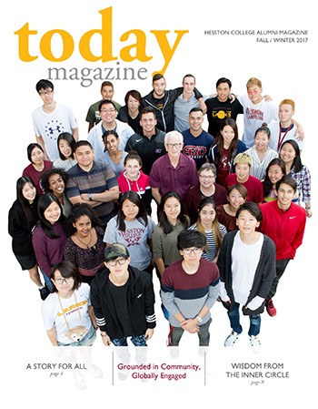 Hesston College Today fall/winter 2017 cover - Grounded in community, globally engaged