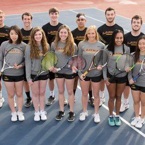 2018 Hesston College men's and women's tennis teams