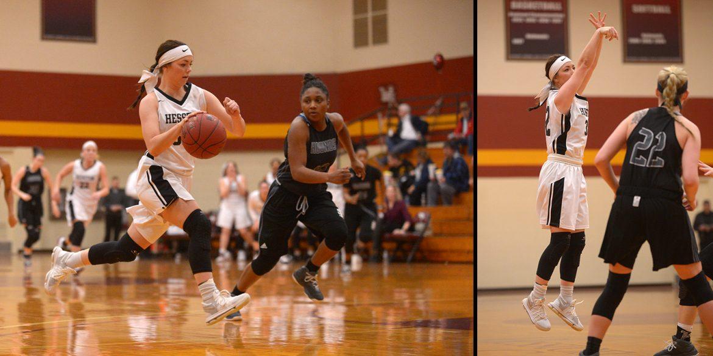 Hesston College women's basketball action photo - Connor Atkinson